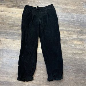 Men's Berle Black Corduroy Cuffed Pants